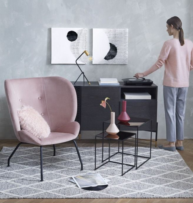 Haute House Melina Tufted Back Chair Pink Sillonesmodernos Furniture Office Chair Design Furniture Chair