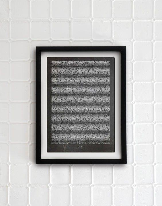 Oscar Wilde classic citation - I Love Design #nordicdesigncollective #ilovedesign #oscarwilde #citation #citat #grey #fiftyshadesofgrey