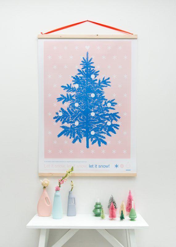DIY posterhanger | zilverblauw
