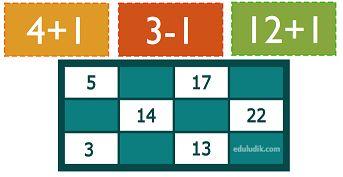 Bingo con sumas y restas para imprimir