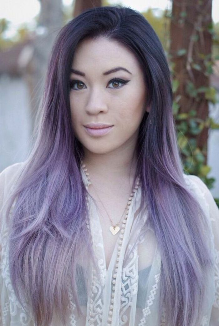 coloration violette cheveux violet clair comment porter des - Coloration Violet Pastel