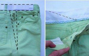 Se as calças forem apertadas porque jogá-las fora? Você pode facilmente alargá-las!