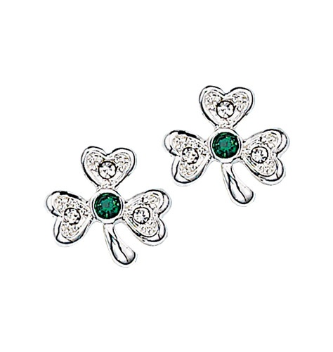 Rhinestone Shamrock Stud Earrings  526-664     Be the first to write a review  Reg. $9.99