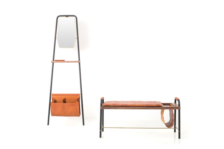 Panca imbottita in pelle VALET SEATED BENCH Collezione Valet by STELLAR WORKS design David Rockwell