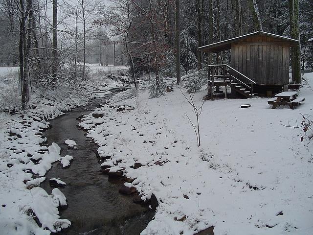 Tennessee Cabin Winter Ummm Someone Wanna Tell Me