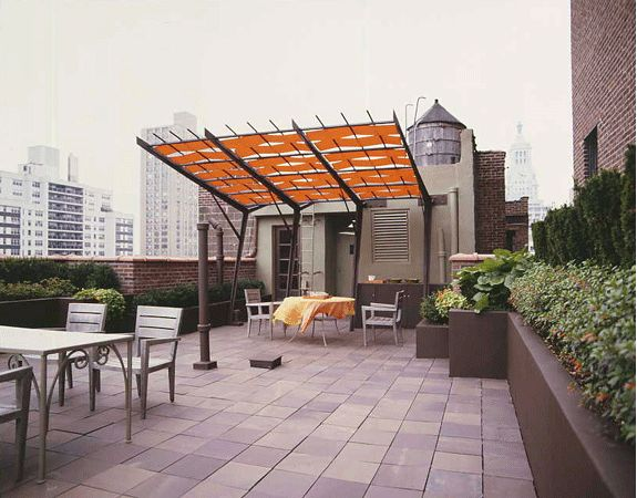 Residential Gramercy Park Roof Terrace Shade