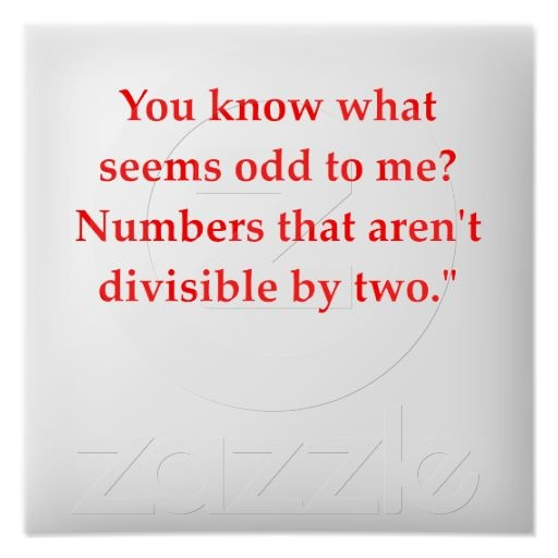 odd--I actually understand and get this math joke!