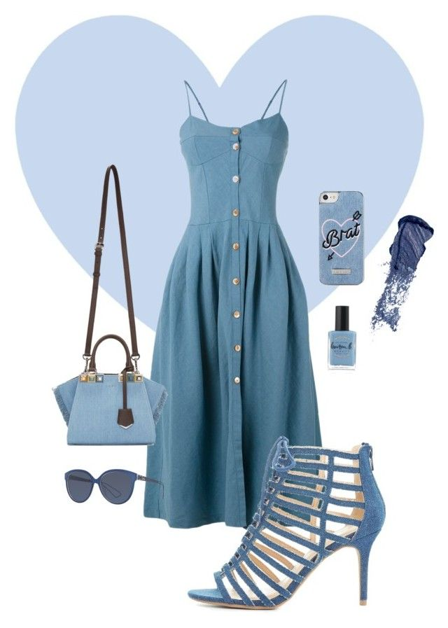 """Denim Date"" by olivia-pullman on Polyvore featuring Skinnydip, Forte Forte, Christian Dior, Fendi, Wild Diva, Bobbi Brown Cosmetics and Lauren B. Beauty"
