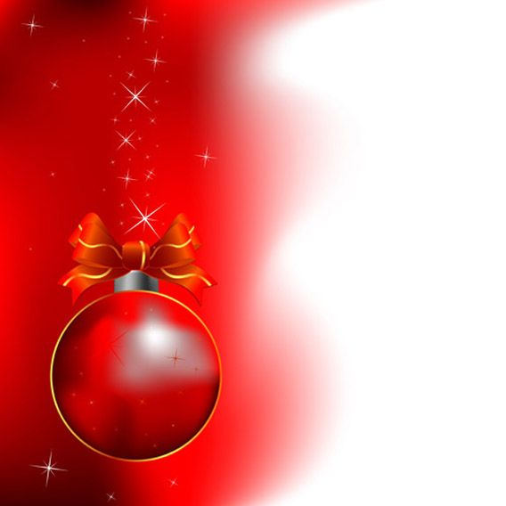 Red Christmas Free Vector Background