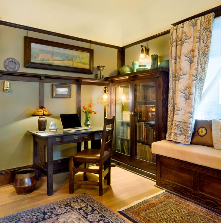 A Craftsman Home office space