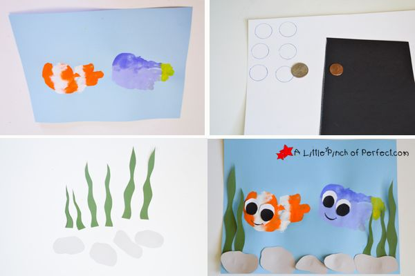 Finding nemo dory handprint fish craft camp for Finding dory crafts for preschoolers