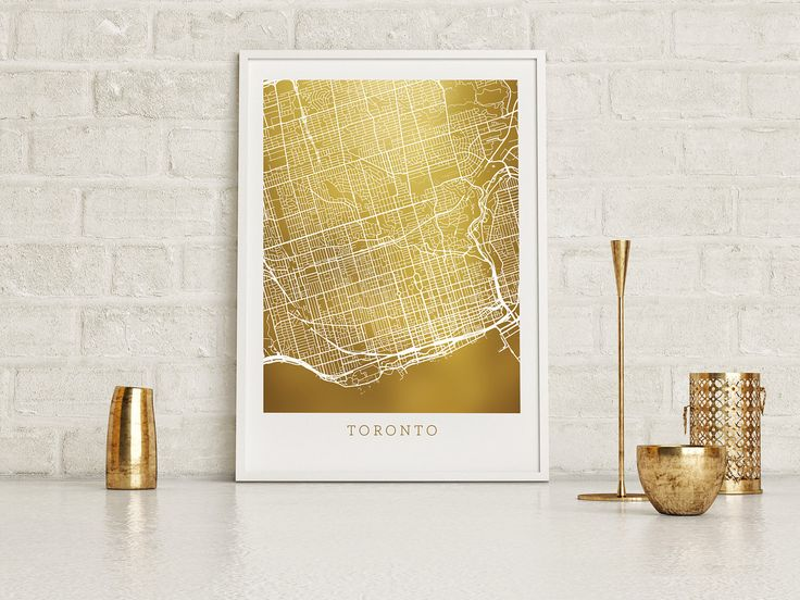 Toronto Gold Foil Art Map, Gold Print Street Map with Superior Accuracy, Real Gold Foil on 65lb cardstock, Toronto Ontario Canada by PaperPeridot on Etsy https://www.etsy.com/ca/listing/509178342/toronto-gold-foil-art-map-gold-print