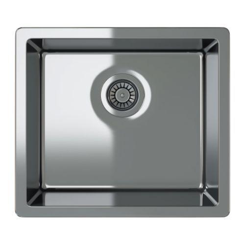 BREDSKÄR Single-bowl inset sink - 52x46 cm - IKEA