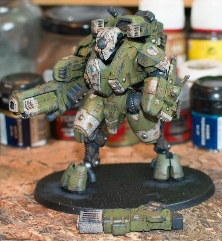 Ghostkeel, Tau, Tau Empire, Tau Empire Ghostkeel, Tau Ghostkeel, Weathered