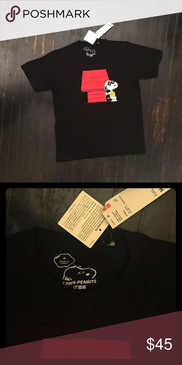 EXCLUSIVE KAWS x PEANUTS X UNIQLO COLLAB An official limited release through UNIQLO, all authentic. **note** if you don't want to deal though the app I am Venmo, Cash app and Paypal ready = Price $40 Uniqlo Shirts Tees - Short Sleeve