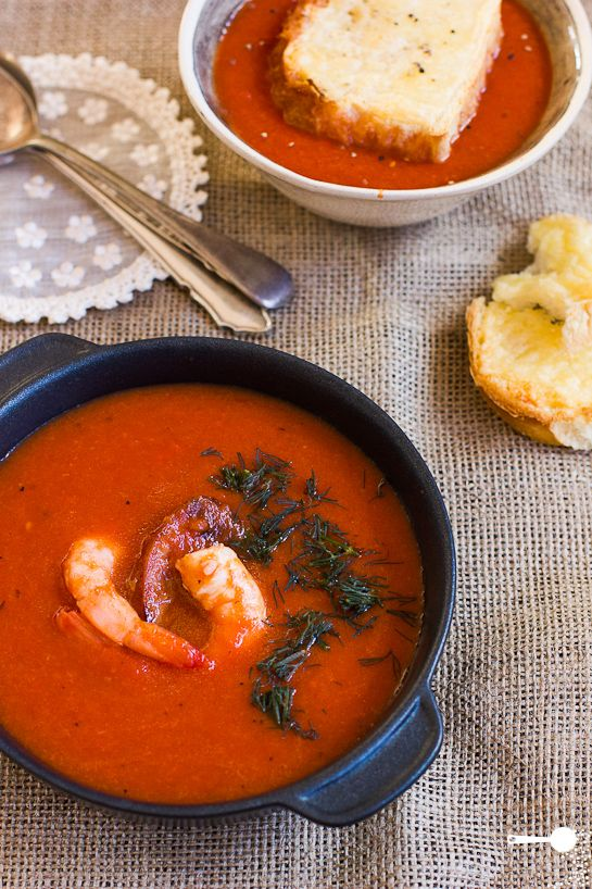 Spicy Roasted Capsicum and Tomato Soup - http://wholesome-cook.com/2012/08/02/spicy-roasted-capsicum-and-tomato-soup/