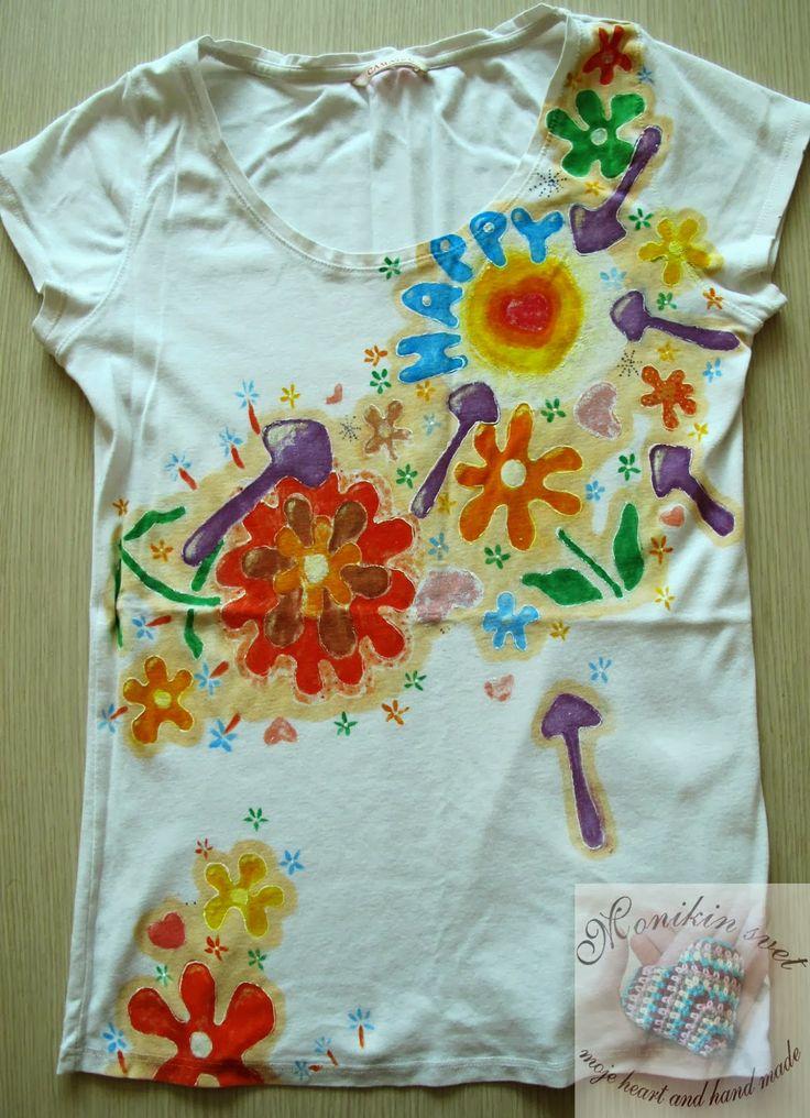 Monikin svet: Maľované tričko HAPPY