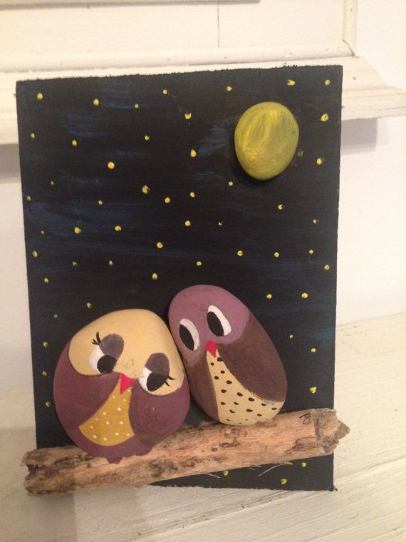 Hey, I found this really awesome Etsy listing at https://www.etsy.com/listing/214482782/wood-art-owl-paint-on-stone-and-wood