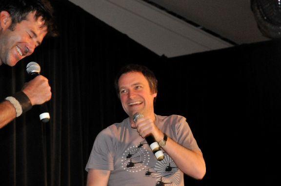 Two favorite people - SGA David Hewlett and Joe Flanigan panel