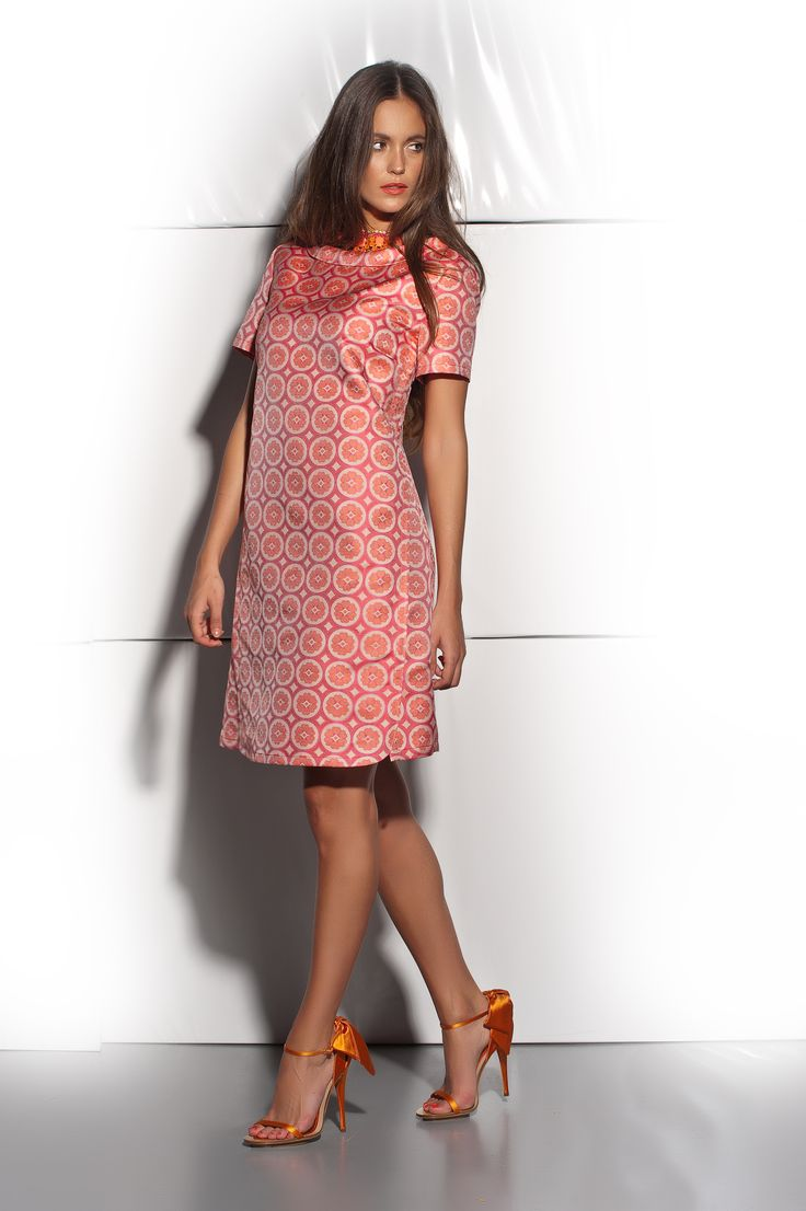 MB 7614 - BROCADE DRESS
