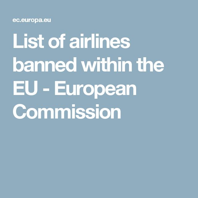 List of airlines banned within the EU - European Commission