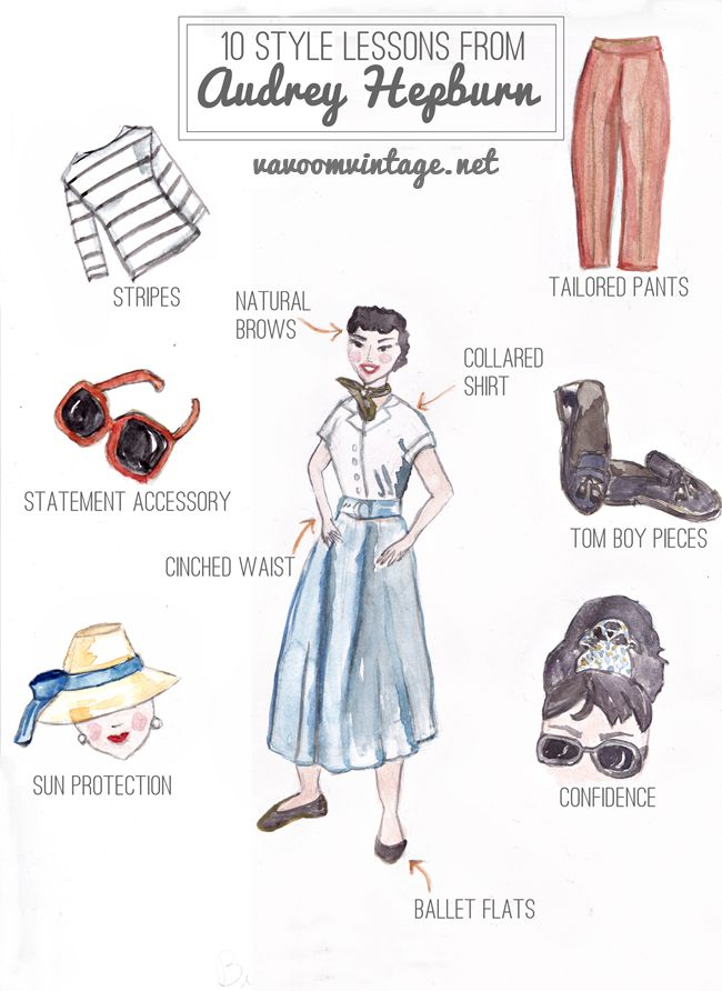 10 style lessons from audrey hepburn by Brittany Sherman 2015 vavoomvintage.net