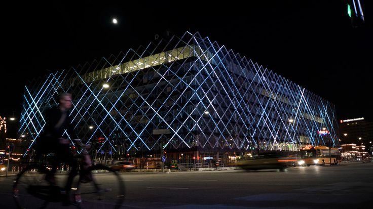Confederation Of Danish Industry Headquarters Interactive Led Facade Design Scenography Et Lumiere