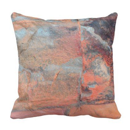 Rock Red Tiles Throw Pillow - create your own personalize