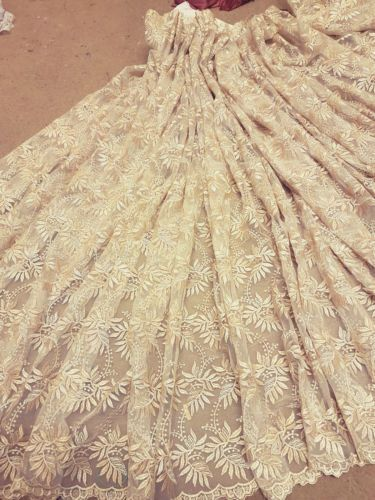 1M-BRIDAL-GOLD-CRYSTAL-SCALLOPED-LACE-EMBRIOUDED-FABRIC-45-034-WIDE