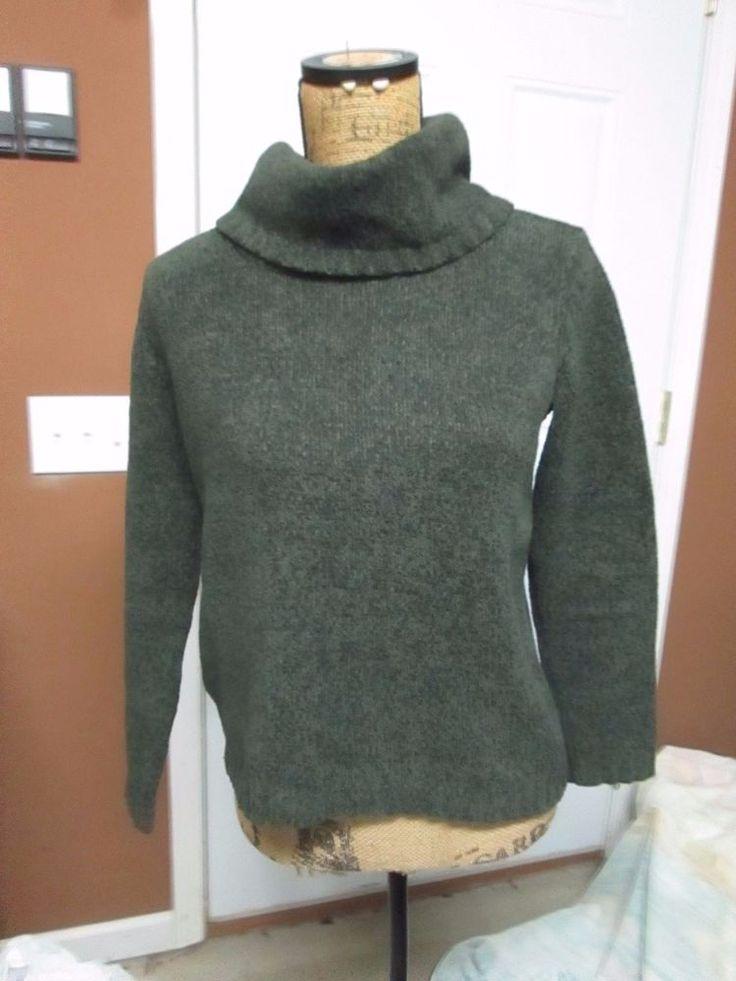 Liz Clairborne Lizsport Petite Grey Turtleneck Sweater  | eBay