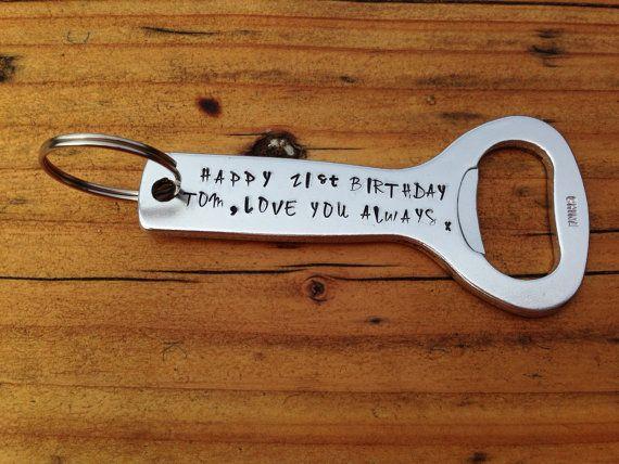 Personalised bottle opener. Custom gift. Uncle present. Token for him. Stocking filler. Key ring. Key chain