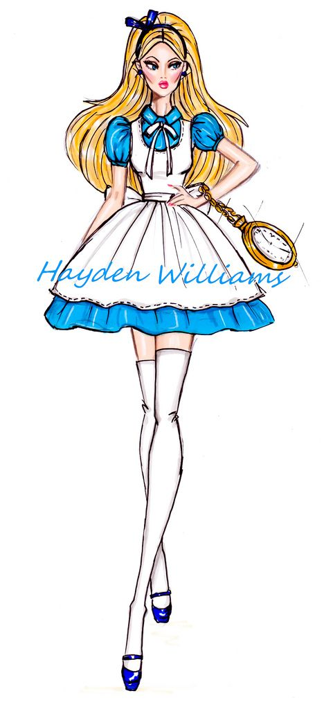 #Hayden Williams Fashion Illustrations: The Disney Diva's collection by Hayden Williams: Alice in Wonderland