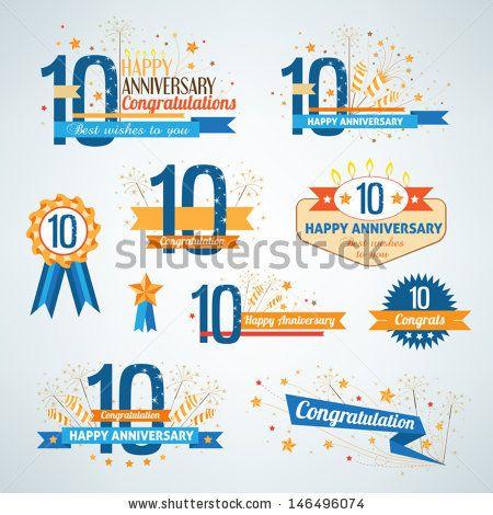 Set of anniversary design elements by ksana-gribakina, via Shutterstock