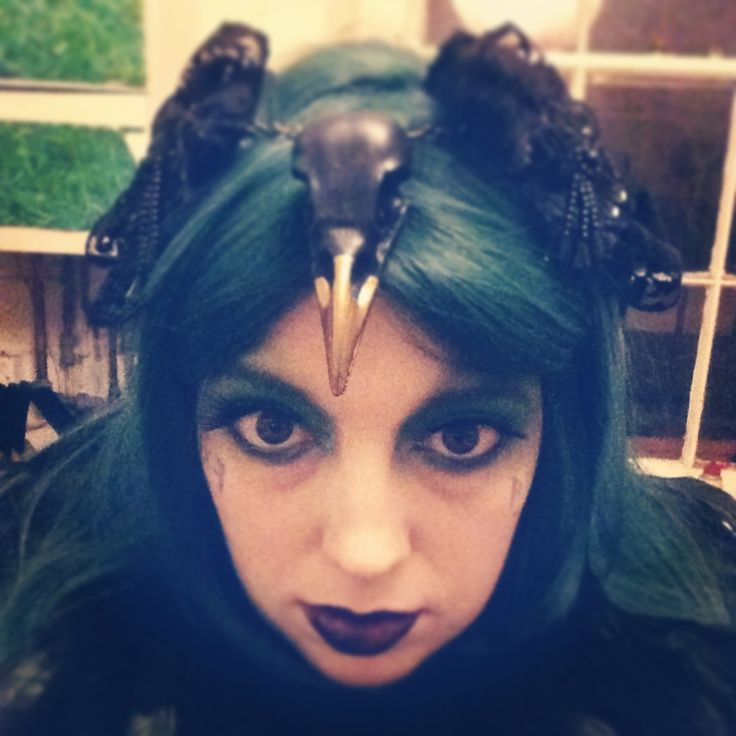 Gypsypixiepirates at the Goblin Kings Ball 2013 ~ Becca's magpie wing headpiece