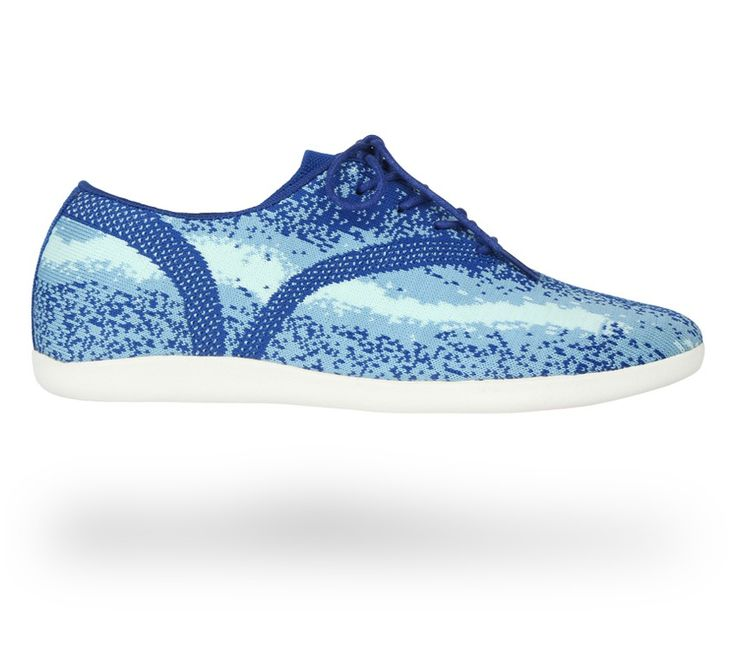 Sneakers 'Easy': Electro blue and Eden blue Knitted mesh. #Repetto #RepettoSneakers #RepettoRunners