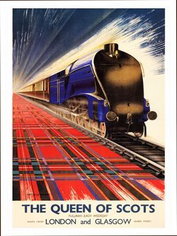 The Queen of Scots  - really like the usage of tartan as track/rail - nice touch!