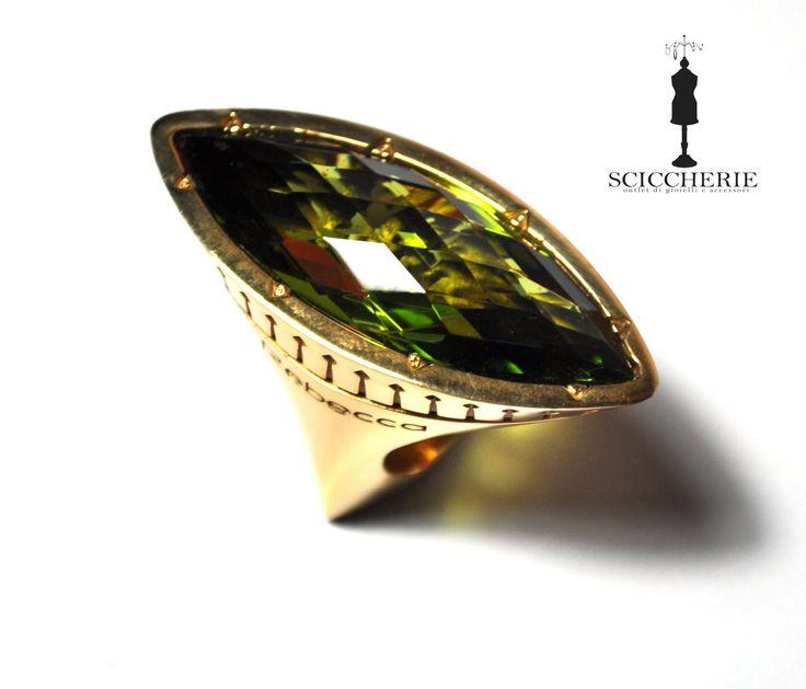 """Collezione """"Tropezienne"""". Anello in bronzo e pietra idrotermale Peridoto. #rings #rebeccajewelry"""