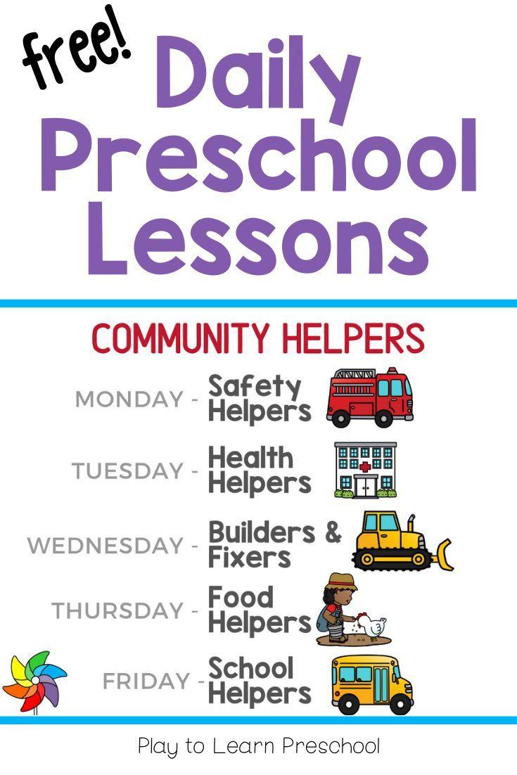 Virtual Preschool   Community Helpers Week   Community helpers ...