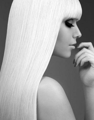 Platinum blonde locks...