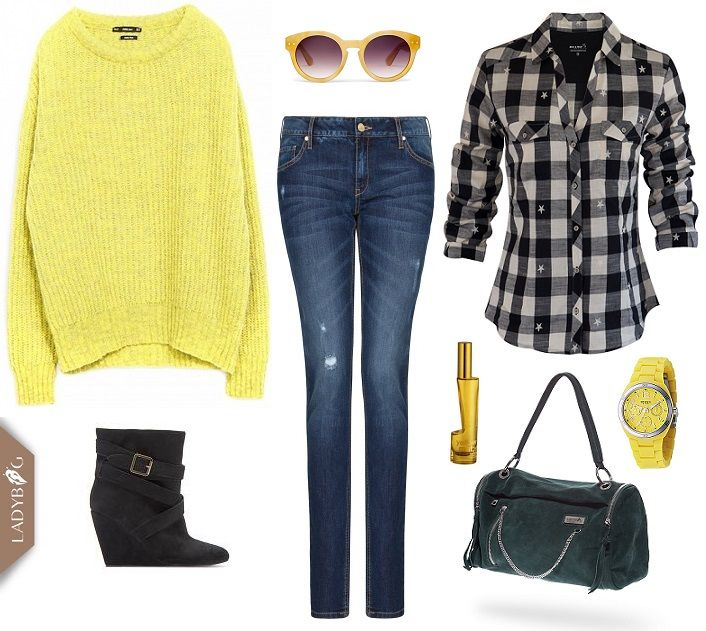Outfit inspiration for lazy days in LADYBAG style.