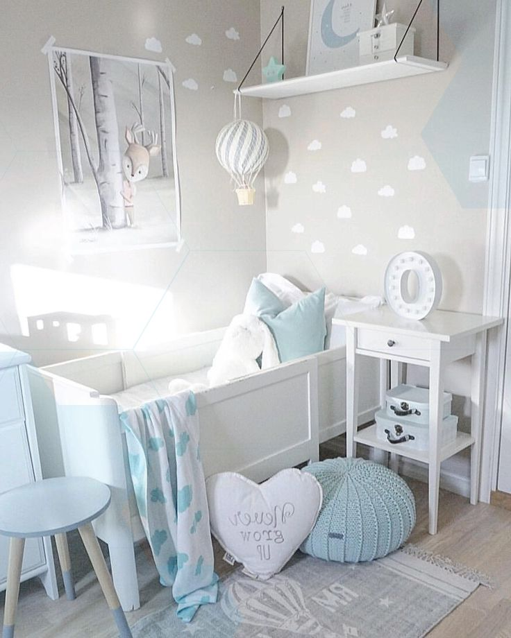 Inspiration From Instagram Mild Grey And Blue Nursery Decor