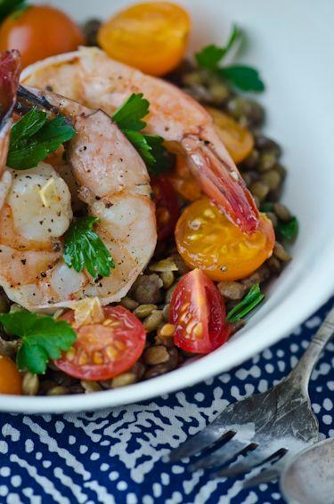 bliss blog - blissful eats with tina jeffers: Warm shrimp and lentilsaladCuisine Salad, Shrimp Lentils Salad, Bliss Blog, Eating M, Salad Salad Salad, Tina Jeffers, Warm Shrimp, Bliss Eating, Eating Able