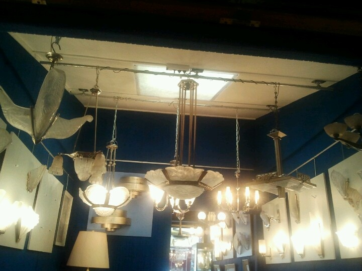 Clignancourt Paris art deco/nouveau lights