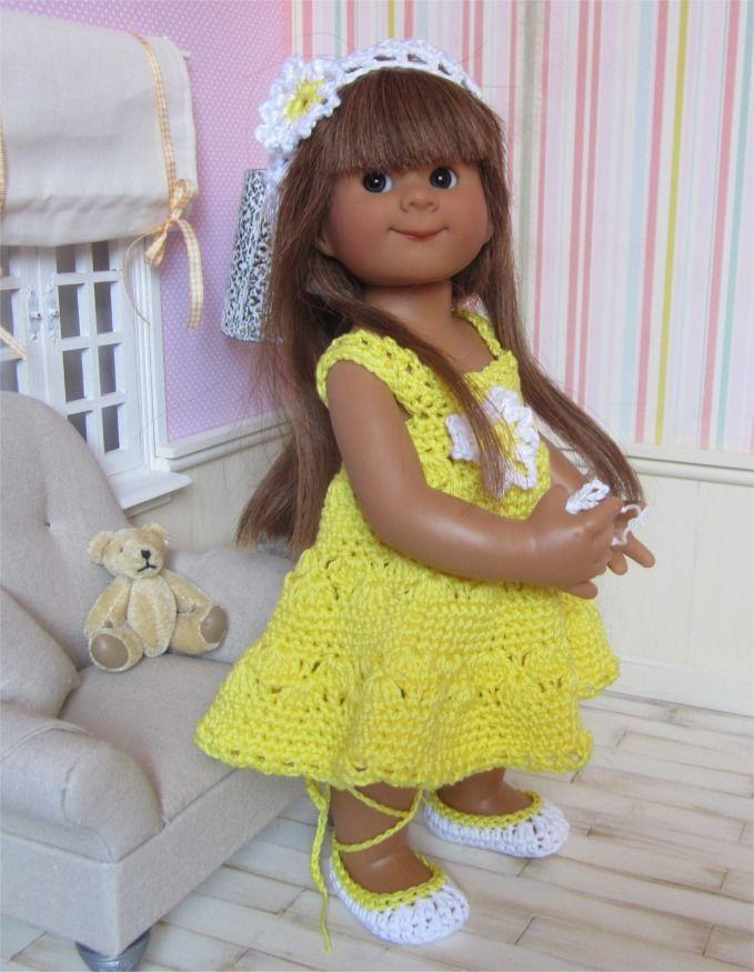 82- FICHE PATRON Tenue Paquerette au crochet pour poupée Wichtel : Jeux, jouets par atelier-crochet