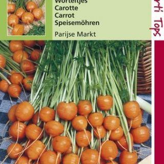 Wortelen Parijse Markt (zaad ronde zomerwortel)