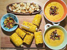 суп-пюре из кукурузы, запеченная кукуруза, рецепт, фото