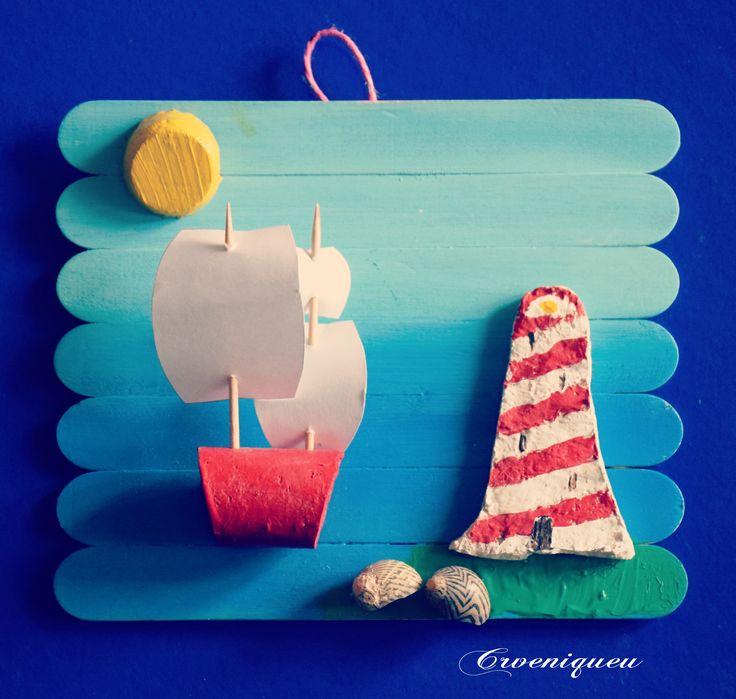 Vitorláshajó, világítótorony, spatula, iskola, school, tongue-spatula, lighthouse, brig