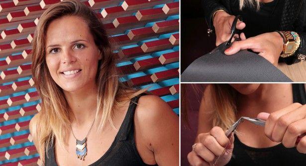 Vidéo : Laure Manaudou crée un collier Cherokee