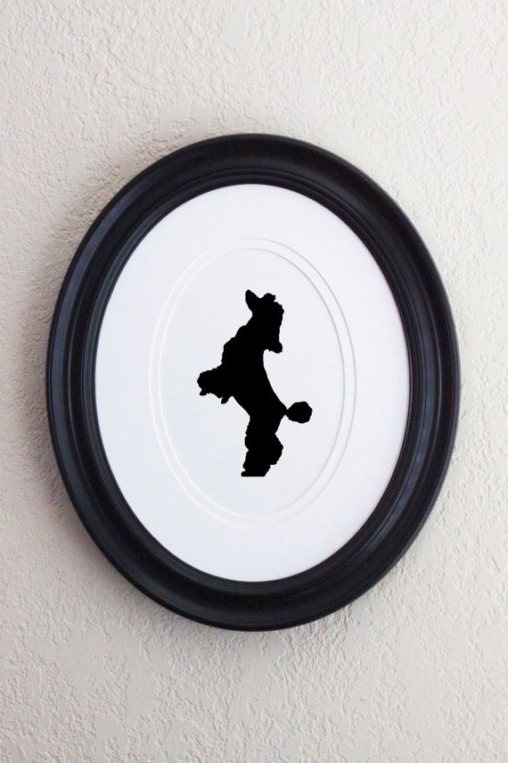 Poodle Silhouette 3 by SilhouettePetProject on Etsy