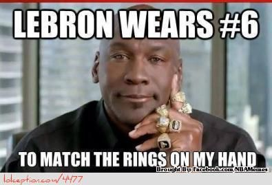 LeBron James vs. Michael Jordan! - http://weheartchicagobulls.com/nba-funny-meme/lebron-james-vs-michael-jordan